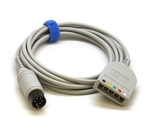 Mindray ECG trunk cable: 3/5-lead, Adult/Pediatric, 6 Pin, Defib-Proof, PTU, AHA/IEC