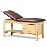 Clinton ETA Classic Series Straight Line Treatment Table with Drawers