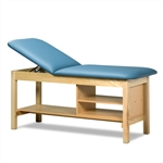 Clinton ETA Classic Series Straight Line Treatment Table with Shelving Unit