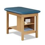 Clinton H-Brace Taping Table w/ End Shelf