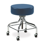 Clinton Classic Series Chrome Base Stool with Square Footring