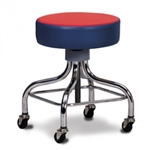 Clinton Classic Series Chrome Base Stool with Square Footring (Multi-Color Top)