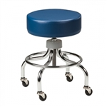 Clinton Classic Series Chrome Base Stool with Round Footring