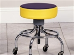 Clinton Classic Series Chrome Base Stool with Round Footring (Multi-Color Top)
