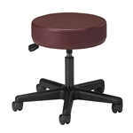 Clinton Style-Line Series Pneumatic Stool with 5-Leg Nylon Base
