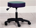 Clinton Style-Line Series Pneumatic Stool with 5-Leg Nylon Base (Multi-Color Top)