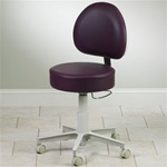 Clinton Premium Series 5-Leg Pneumatic Stool with D-Shaped Backrest