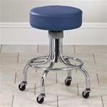 Clinton Classic Series Extra Tall Chrome Base Stool