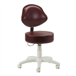 Clinton Passport Series 5-Leg Pneumatic Stool with Lumbar-Shaped Backrest