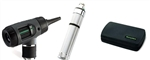 Otoscope Set with MacroView Otoscope with Throat Illuminator and Direct Plug-In Handle in Hard Case