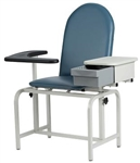 Winco Blood Drawing Chair with Drawer - Padded Vinyl