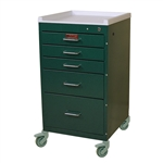 Mini Line, Five Drawer Procedure Cart, Key Lock