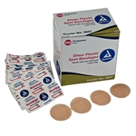 <!020>Sheer Adhesive Bandages, Strips 1' x 3', Sterile 24/100/Cs