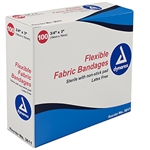 <!070>Adhesive Fabric Bandages, Wing 3' x 3', 4 Sterile-24/50/Cs