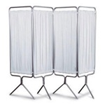 Winco 4 Panel Aluminum Folding Screen w/Standard White Vinyl