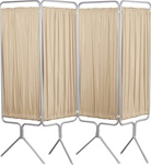 Winco 4 Panel Aluminum Folding Screen w/Premium Sure-Chek Colored Vinyl