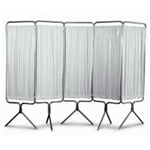Winco 5 Panel Aluminum Folding Screen w/Standard White Vinyl