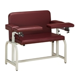 Clinton Extra-Wide Blood Drawing Chair with Flip-Arms