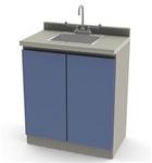 UMF Modular Cabinets, 30' Base Cabinet with SS Sink and Faucet and 2 doors