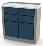 UMF Treatment Cabinet, 2 doors, 4 drawers, 32'W x 34'H x 16.25'D