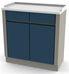 UMF Treatment Cabinet, 2 doors, 2 drawers, 1 shelf, 32'W x 34'H x 16.25'D