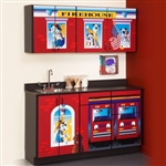 Clinton Theme Series 'Fire House' Cabinets