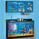 Clinton Theme Series 'Ocean Commotion' Cabinets