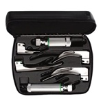 Welch Allyn English Fiber Optic Laryngoscope Set - Medium & Stubby Handles
