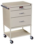 Instrument Line, Three Drawers within 18-inch Cabinet, Procedure Cart, Key Lock