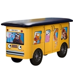 Clinton Fun Series Pediatric Table: Zoo Bus with Jungle Friends