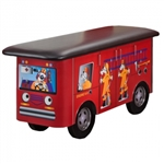 Clinton Fun Series Pediatric Table: Engine K-9 with Dalmatian Firefighters
