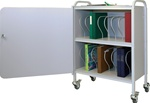 Winco Ring Binder Cart w/Lock, 16 - 3' Binder Capacity