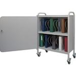Winco Ring Binder Cart w/Lock, 20 - 2' Binder Capacity