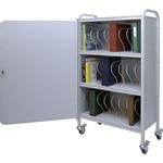 Winco Ring Binder Cart w/Lock, 24 - 3' Binder Capacity