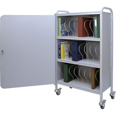 "Winco Ring Binder Cart w/Lock, 24 - 3"" Binder Capacity"