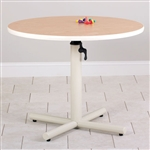 Round Gas Spring Adjustable Table