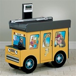 Clinton Fun Series Scale Table: Zoo Bus with Jungle Friends