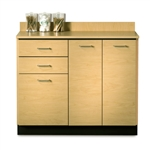 Clinton 42' Base Cabinet with 3 Doors and 2 Drawers