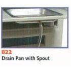 UMF Stainless Steel Drain Pan w/spout, 4010, 4011, 4040, 4070, 5020, 5060, 5080
