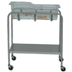 UMF Stainless Steel Bassinet, 1 shelf