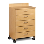 Clinton ETA Mobile Treatment Cabinet with 5 Drawers