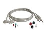 Philips Set of 3 Chest Leadwires for TRIM and TOUCH EKG Machines