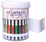 Accutest Drug Test Cups - 6 Panel (AMPòCOCòmAMPòOPIòPCPòTHC) 24 tests/box