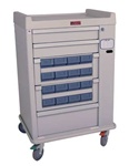 OptimAL Line, 16 Medication Bin, Cassette Cart with Electronic Lock