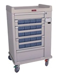 OptimAL Line, 20 Medication Bin, Cassette Cart with Electronic Lock