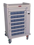 OptimAL Line, 28 Medication Bin, Cassette Cart with Electronic Lock