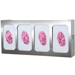 Bowman Glove Box Dispenser - Quad with Divider