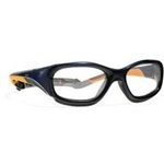 Techno-Aide Power Guard Eyewear: Blue/Orange