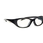 Techno-Aide Style Guard Eyewear: Black/Silver
