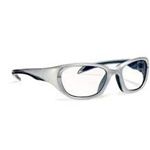 Techno-Aide Style Guard Eyewear: Silver/Navy